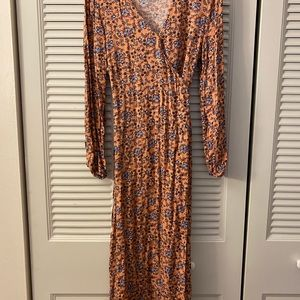 Cotton On Dresses - Cotton On peach summertime wrap dress